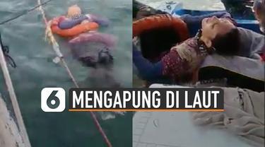 Setelah dikabarkan 2 tahun menghilang. Perempuan ini ditemukan mengapung di laut. Beruntungnya perempuan ini masih hidup.