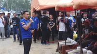 Komandan Komando Satuan Tugas Bersama (Kogasma) Partai Demokrat, Agus Harimurti Yudhoyono. (Liputan6.com/Ady Anugrahadi)