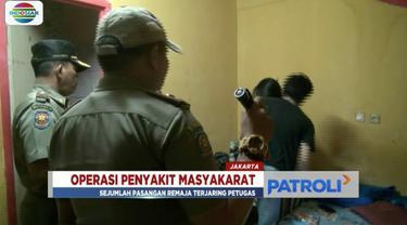 Gelar Operasi Penyakit Masyarakat, petugas gabungan jaring 7 sejoli  yang berduaan di kamar hotel.