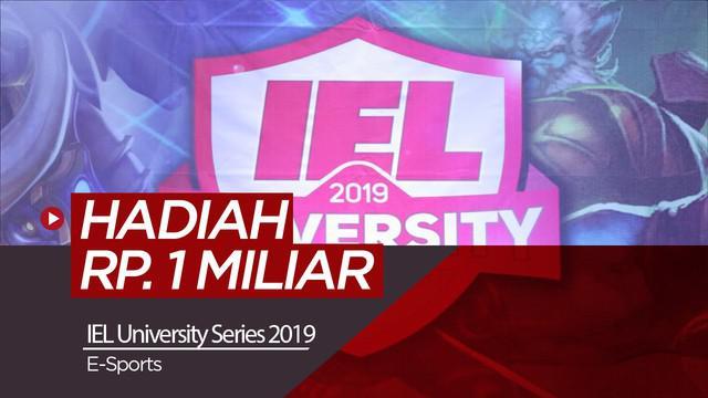 Berita video Liga e-Sports Indonesia atau IEL University Series 2019 yang memberikan hadiah kepada pemenang senilai Rp. 1 Miliar.