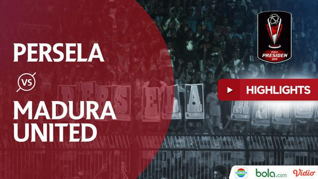 Berita video highlights perempat final Piala Presiden 2019 antara Persela Lamongan melawan Madura United yang berakhir dengan skor 1-2 di Stadion Surajaya, Minggu (31/3/2019).