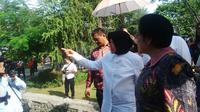 Ketua PDIP Megawati Seokarnoputri dan Wali Kota Surabaya Tri Rismaharini atau Risma. (Liputan6.com/Dhimas Prasaja)