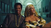 Beyonce memakai anting-anting rancangan Rinaldy Yunardi (Liputan6.com/Pool/Instagram @rinaldyyunardi)