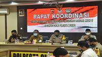 Rakor kesiapan kedatangan vaksin covid19 di Kabupaten Cirebon. Foto (istimewa)