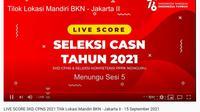 Link Live Score Tes SKD CPNS 2021 atau CASN 2021.