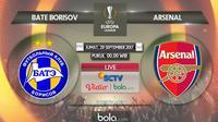 Liga Europa 2017 BATE Borisov Vs Arsenal (Bola.com/Adreanus Titus)