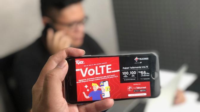 Telkomsel kini memiliki layanan panggilan suara berbasis jaringan internet 4G LTE, VoLTE. Layanan bisa digunakan oleh pengguna yang ada di Jakarta, Depok, Tangerang, Bekasi, dan Surabaya (Foto: Telkomsel)