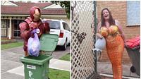 Warga Australia 'pesta kostum' saat buang sampah di masa pandemi corona COVID-19. (dok. Facebook/Copelin Gehlsen/Samantha Hansen)