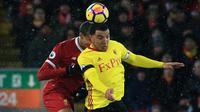 Troy Deeney memberikan pujian untuk penampilan Liverpool. (AFP/Lindsey Parnaby)