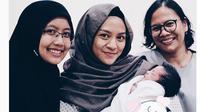 Enno Lerian baru saja melahirkan anak keempat berjenis kelamin laki-laki yang diberi nama Gema Tyaga Soesetyo. (Instagram)