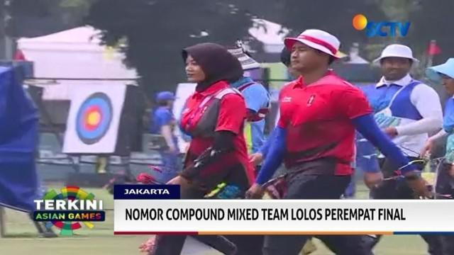 Diananda dan Riau Ega, gagal masuk ke perempat final nomor recurve mixed team, setelah kalah melawan Korea Utara dengan skor 5-3.