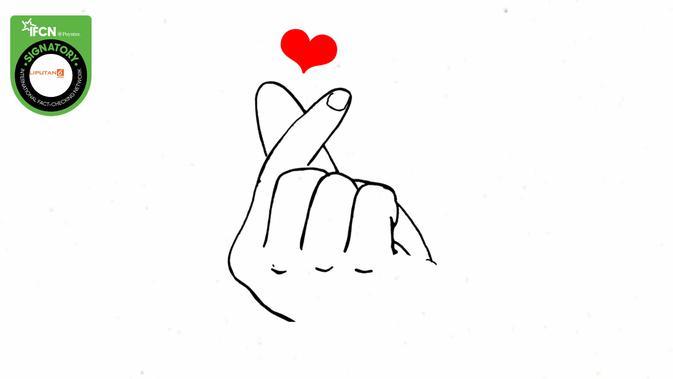 Cek Fakta Finger Heart Adalah Simbol Salib Benarkah Cek Fakta Liputan6 Com