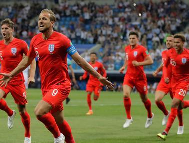 2 Gol Harry Kane Bawa Inggris Bungkam Tunisia