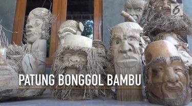 Agus, manfaatkan bonggol bambu yang terbuang sia-sia menjadi ukiran dan patung unik