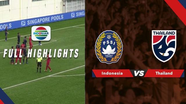 Berita video highlights Merlion Cup 2019 antara Timnas Indonesia U-23 melawan Thailand yang berakhir dengan skor 1-2, Jumat (7/6/2019).