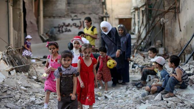 Idul Fitri di Suriah (AFP PHOTO)