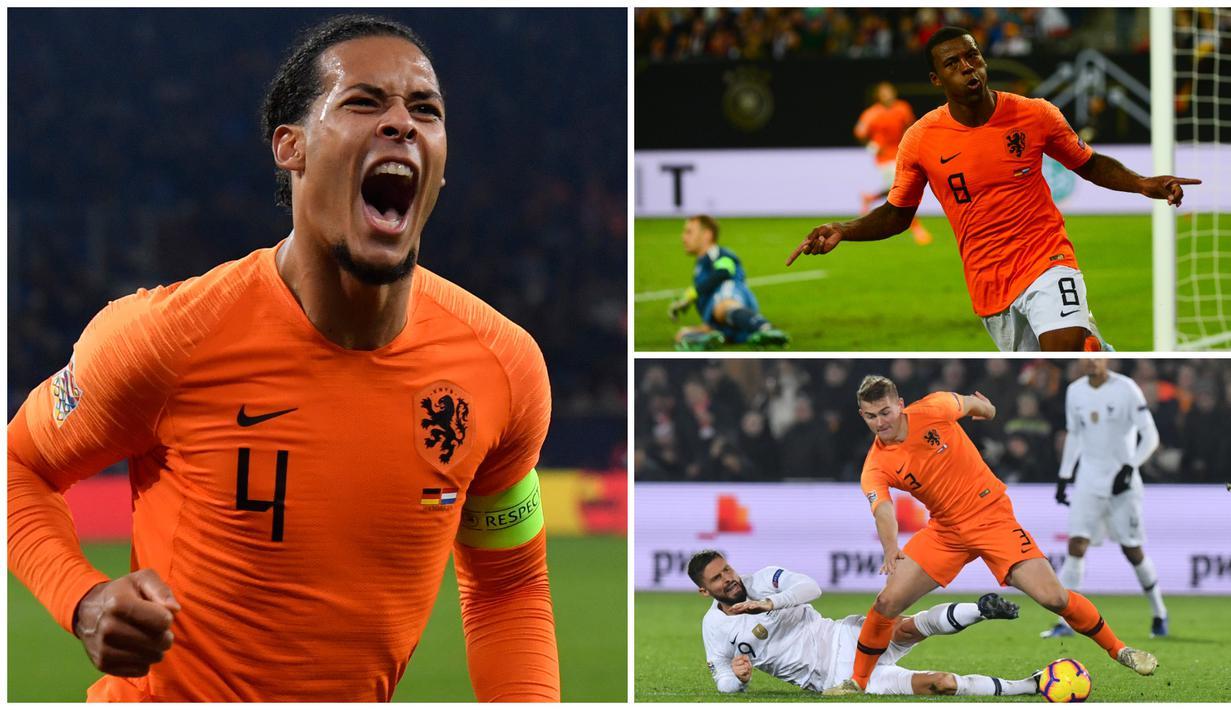 Sepak bola Belanda perlahan mulai kembali bersinar setelah tim nasional mereka sebelumnya absen pada Piala Eropa 2016 dan Piala Dunia 2018. Virgil van Dijk dan tujuh bintang ini menjadi pilar utama yang akan mengembalikan kejayaan Belanda. (Kolase Foto dari AFP)