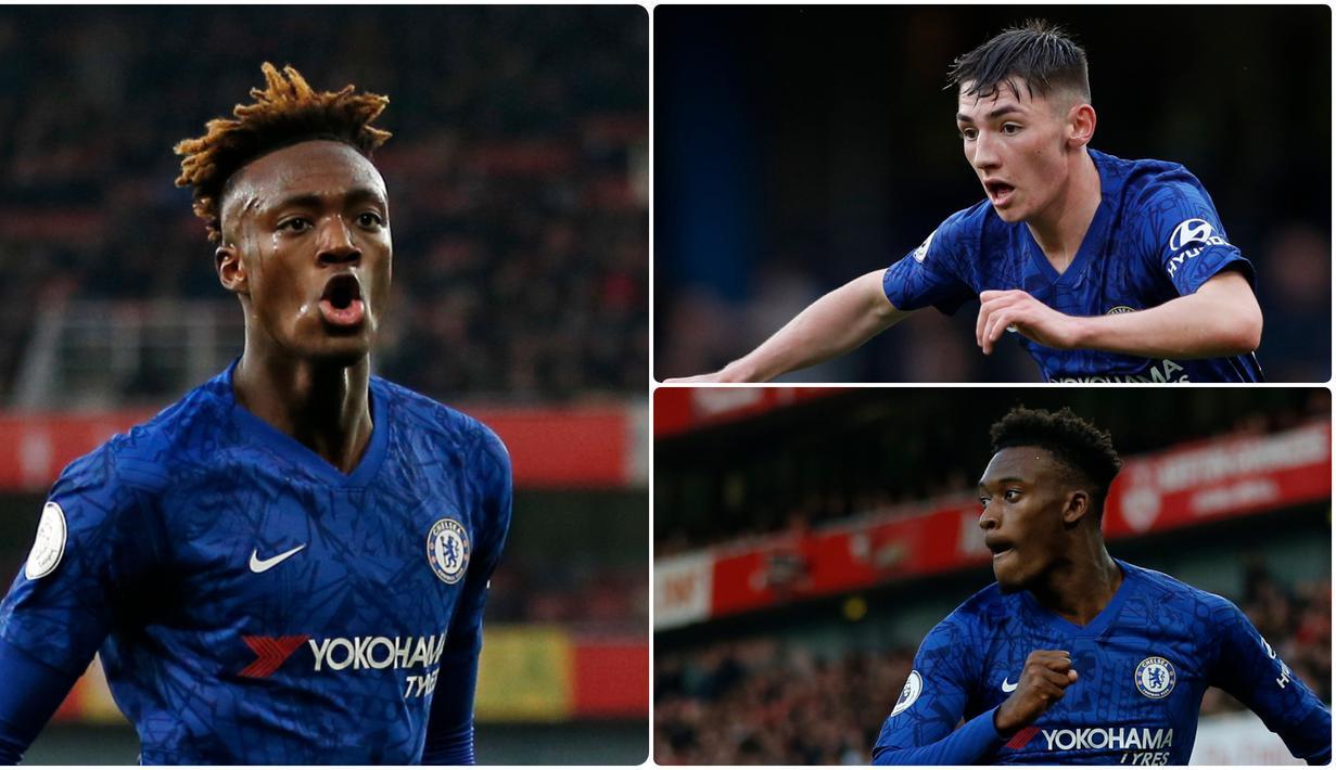 Frank Lampard memberikan banyak kesempatan kepada para pemain muda Chelsea untuk tampil bersama tim utama. Talenta-talenta muda Chelsea ini berusaha memberikan yang terbaik pada kesempatan itu. Berikut darah-darah muda Chelsea di musim ini. (Kolase foto AFP)
