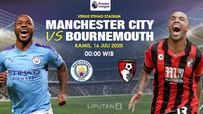 Link Live Streaming Manchester City vs Bournemouth di Liga Inggris Malam Ini