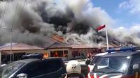 Kebakaran Polres Lampung Selatan. (Istimewa)