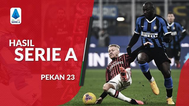 Berita video hasil Serie a 2019-2020 pekan ke-23. Juventus kalah 1-2 dari Hellas Verona, Inter Milan geser puncak klasemen setelah menang 4-2 dari AC Milan.