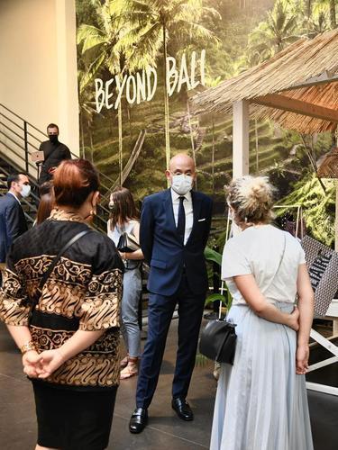 Duta Besar Indonesia di Prancis, Arrmanatha Nasir pada acara pembukaan Merci Beyond Bali.