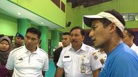 Sandiaga Uno meninjau GOR Bulungan jelang Asian Games
