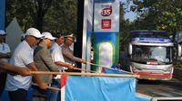 PT Pertamina (Persero) kembali menyelenggarakan mudik gratis di Lebaran 2019 ini dengan memberangkatkan 11 ribu pemudik ke kampung halaman. (Pebrianto Eko/Liputan6.com)