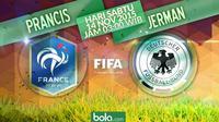Prancis vs Jerman (Bola.com/Samsul Hadi)