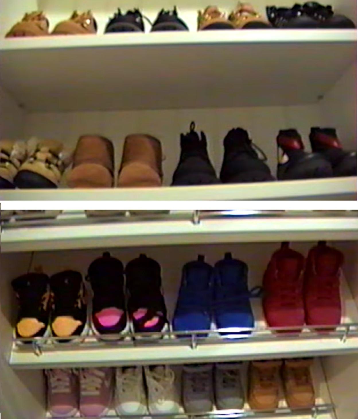 Sebagian koleksi sepatu putri Kylie Jenner (YouTube/ kyliejenner)