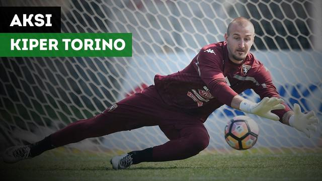 Kiper Torino, Vanja Milinkovic-Savic nyaris cetak gol indah ke gawang Carpi.