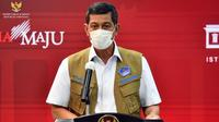 Ketua Satgas COVID-19 Doni Monardo memberikan keterangan pers usai Rapat Terbatas mengenai Penanganan Pandemi COVID-19, di Kantor Presiden Jakarta, Senin (26/4/2021). (Biro Pers Sekretariat Presiden)
