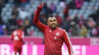 Gelandang Bayern Munchen, Arturo Vidal, akan bertemu mantan klubnya, Juventus, pada babak 16 besar Liga Champions. (AFP/Christof Stache)