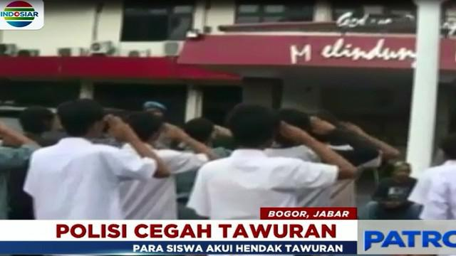 Beberapa siswa yang diperiksa mengakui, mereka memang hendak tawuran dengan siswa salah satu SMK swasta di Bogor.
