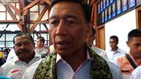 Menko Polhukam Wianto minta kasus pembakaran bendera di Garut tak lagi diributkan. (Huyogo Simbolon)