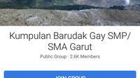 Medos facebook anggota gay SMP-SMA di Garut (Liputan6.com/Jayadi Supriadin)