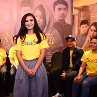 Ayushita di preskon Bid'ah Cinta. (Nurwahyunan/Bintang.com)