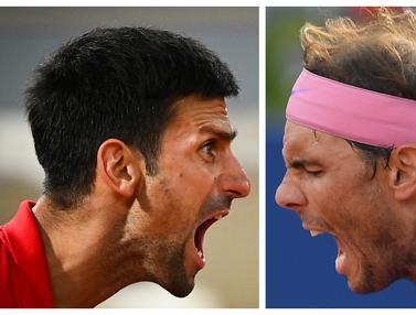 Foto Ragam: Final Prematur, Djokovic dan Nadal Berjumpa di Babak Semifinal French Open 2021