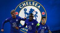 Chelsea - Timo Werner, Christian Pulisic, N'golo Kante (Bola.com/Adreanus Titus)