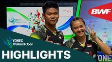 Berita video highlights semifinal Thailand Terbuka 2021 untuk laga kemenangan Praveen Jordan / Melati Daeva Oktavianti atas ganda campuran asal Prancis, Sabtu (16/1/2021).