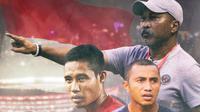 Timnas Indonesia - Fakhri Husaini, Firman Utina, Evan Dimas (Bola.com/Adreanus Titus)