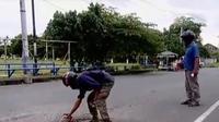 Komunitas Jogja Nyah Nyoh hanya sebagai langkah darurat menghindari terjadinya kecelakaan di jalan raya.