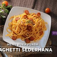 Spaghetti Sederhana, menu buka puasa khas Italia yang beda. (Fotografer: Adrian Putra, Digital Imaging: Muhammad Iqbal Nurfajri/Bintang.com)