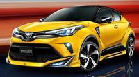 Toyota C-HR dengan body kit racikan Modelista. (Motor1)