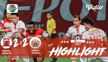 Laga lanjutan Shopee Liga 1, Madura United FC  VS  Persija  berakhir Dengan imbang 2-2 #shopeeliga1 #PSS Sleman #Persela Lamongan