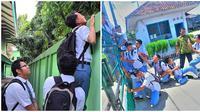 Aksi Nyeleneh Saat Siswa Bolos dari Sekolah Ini Bikin Nostalgia (sumber:Instagram/cikarangdaily)