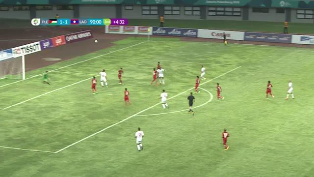 Berita video momen gol tandukan spektakuler pemain Palestina, Abdallatif Albahdari, saat menghadapi Laos pada cabang sepak bola putra Asian Games 2018.