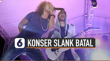 Poster pembatalan konser Slank ramai di media sosial. Sebelumnya Slank dijadwalkan manggung di GBK saat malam tahun baru.