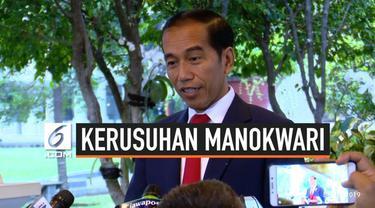 Presiden Joko Widodo menyampaikan pesan damai kepada seluruh masyarakat Papua pada Senin (19/8/2019) di Istana Merdeka, Jakarta.