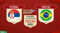 Piala Dunia 2018 Serbia Vs Brasil (Bola.com/Adreanus Titus)